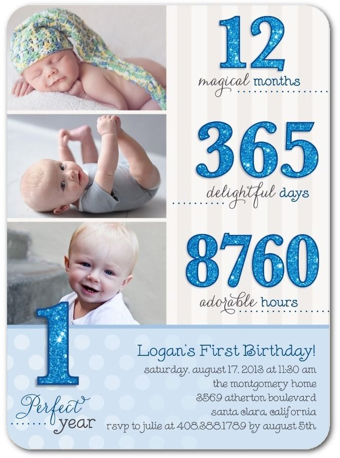 Birthday Breakdown: Blue Moon - Birthday Party Invitations in Blue Moon | Design Collective