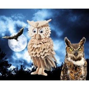3-D owl jigsaw puzzle