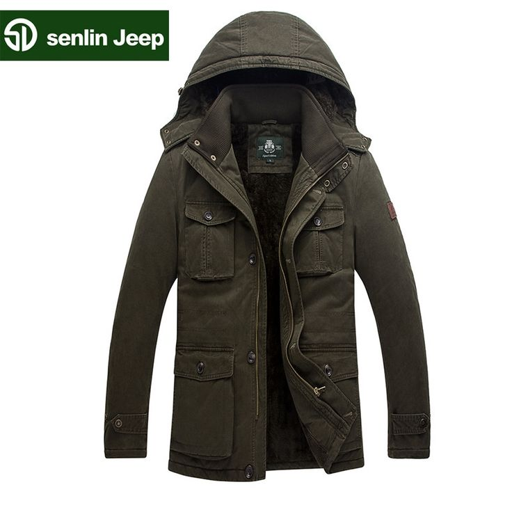 96.72$  Watch now - http://alir2h.worldwells.pw/go.php?t=32667979544 - Forest Jeep 2015 male winter new cotton padded jacket Mens plus warm cashmere factory wholesale 96.72$