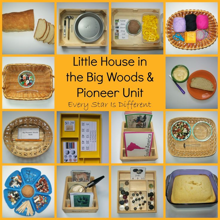 Little House in the Big Woods & Pioneer Unit Free Printables from Every Star Is Different