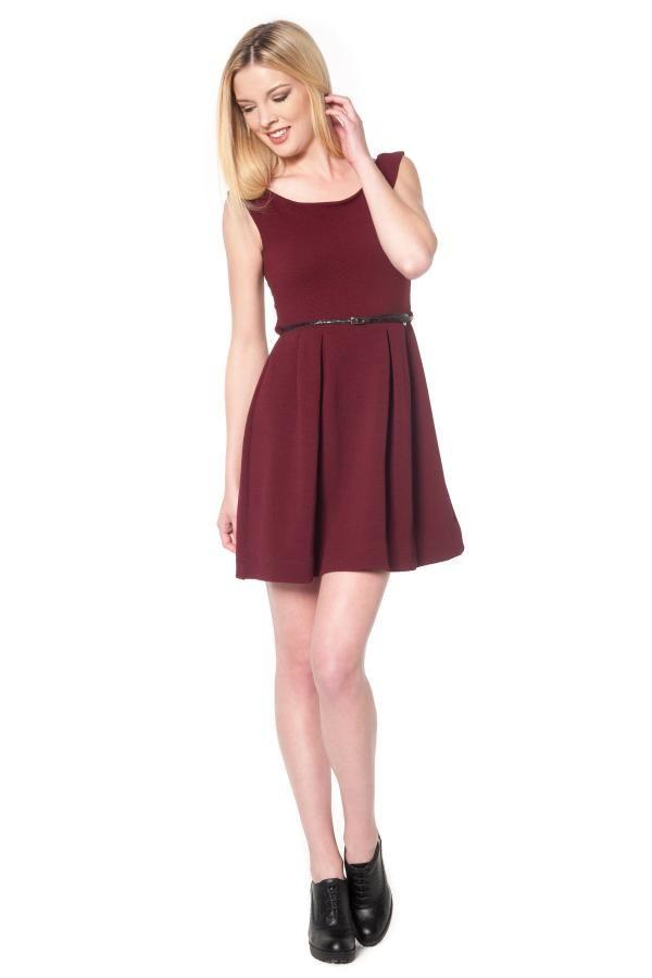 Φόρεμα αμάνικο με ζωνάκι