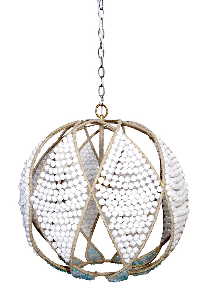 White And Light Blue Beads Create Eclectic Brilliance In The Ro Sham Beaux Adelaide Pendant Set On A Hemp Wred Frame Dazzling Diamond Pattern Lends