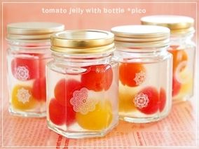 可愛い瓶入り♪「プチトマトゼリー」