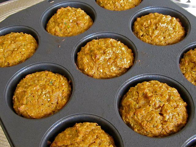 Pumpkin zucchini muffins. Pretty healthy and yummy. KH