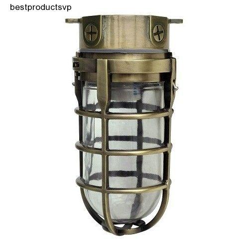 #Ebay #Antique #Brass #Outdoor #Ceiling #Light #Fixture #Wall #Industrial #Flush #Mount #Aluminum #Woods #Traditional