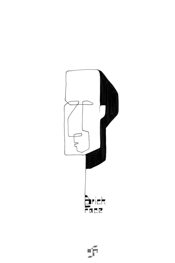 Brick Face - Line Face - http://typeforce.org/
