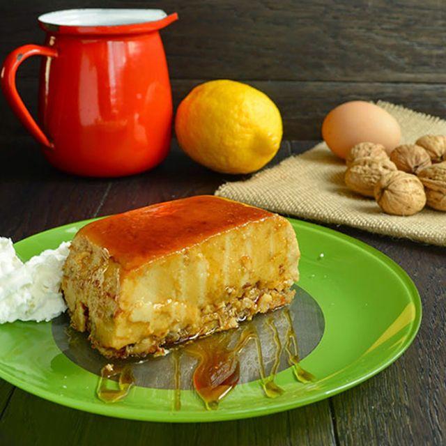 Receta de pudding de nueces