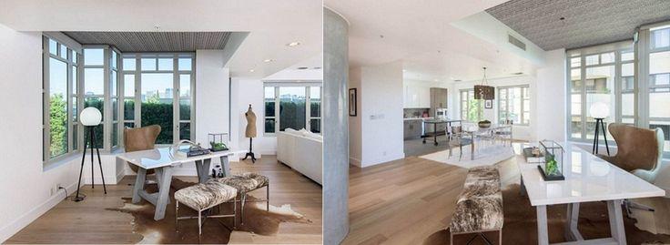Recorre el apartamento en venta de la Kendall Jenner. Habitación. Silla.. Mesa. Tapete. Acabados arquitectónicos. Encuentra dónde comprar este diseño y Producto en Colombia.