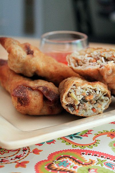 Mama's Egg Rolls from @Amber | Bluebonnets & Brownies