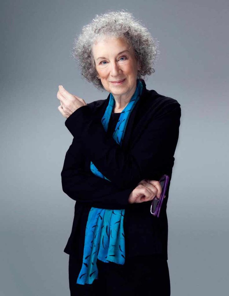 Margaret Atwood. Hope I'm as dynamic, engaged, and beautiful when I'm her age!