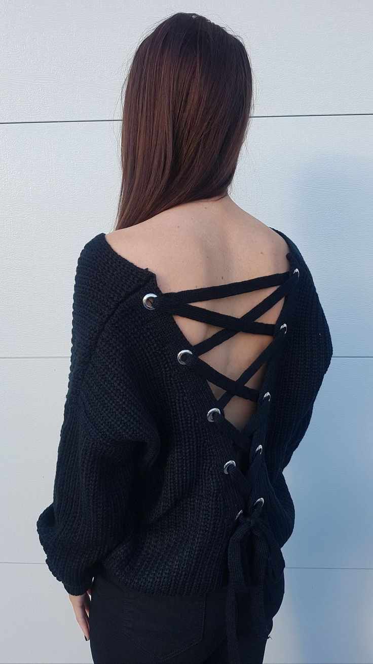 Bad Liar Knitted Jumper in Black Fashion, Fashion beauty