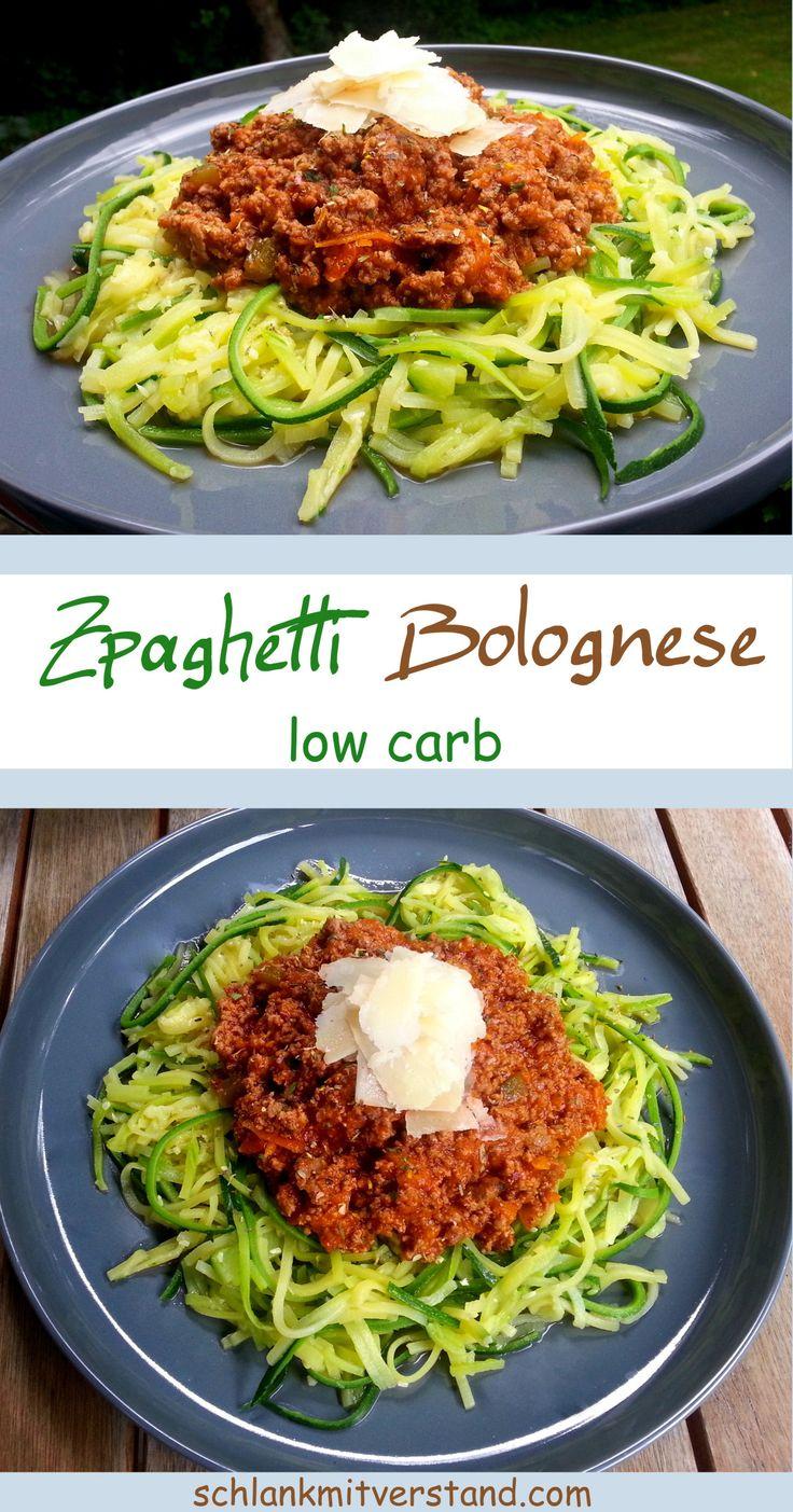 Zpaghetti Bolognese – low carb Ein schnell zubereitetesund leckeres low carb Gericht. Ich koche immer die doppelte Portion Bolognese, denn am nächsten Tag schmeckt sie mir fast…