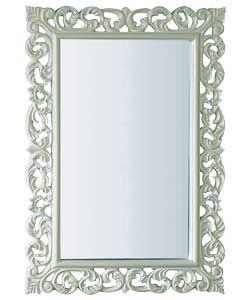 Inspire Rococo High Gloss Wall Mirror - Cream.
