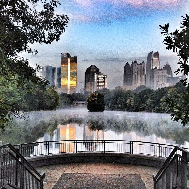 Midtown Atlanta from Piedmont Park. Photo by @Katie Melick