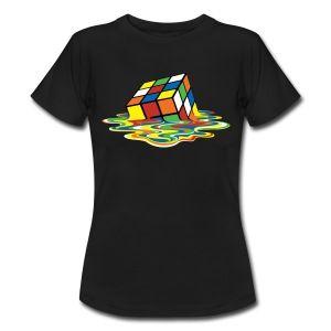 Smeltende Rubiks Kube - T-skjorte for kvinner