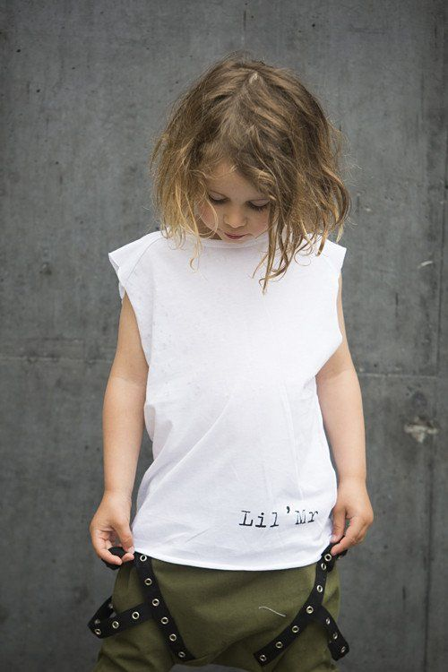 White Boys and Girls Lil' Mr Muscle top / Singlet