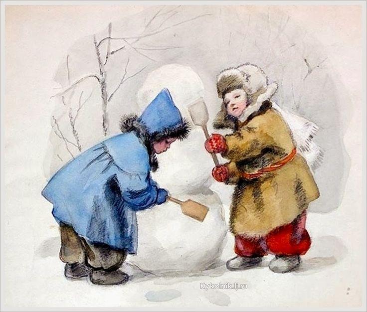 Зимние картинки советские