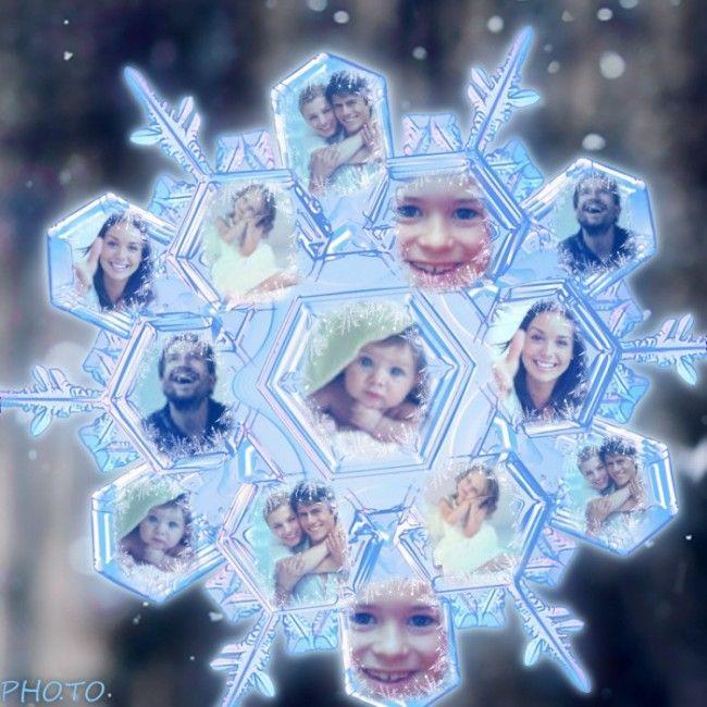 Collage en forma de copo de nieve