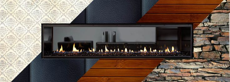 With Escea high efficiency DX Series multiroom gas fireplaces you can finish surround of the frameless fire with whatever material you want creating a beautiful statement fireplace wall for any part of the house