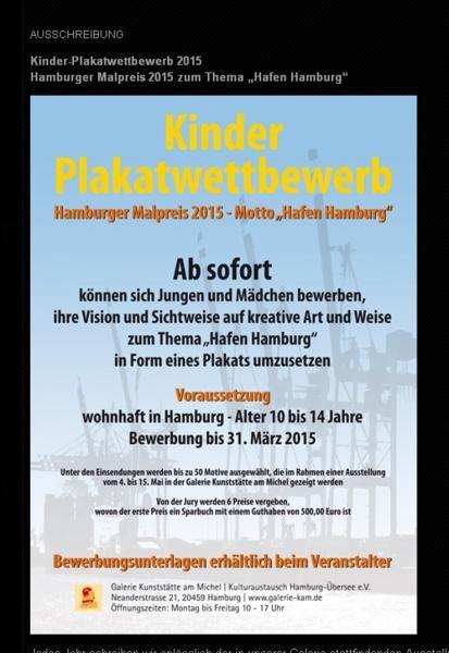 Tipp: Hamburg Kinder-Plakatwettbewerb 2015