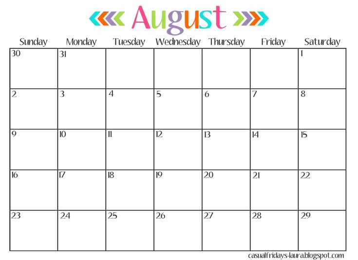 23 Best August 2016 Calendar Images On Pinterest | August Calendar