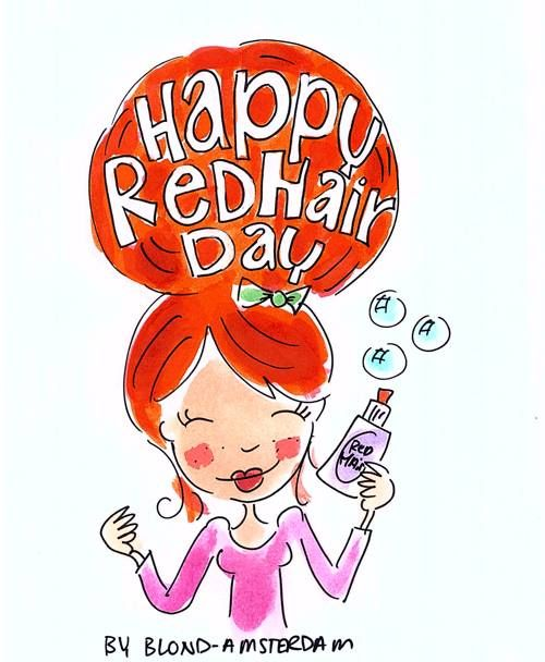Happy Red Hair Day - Blond Amsterdam