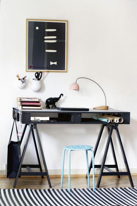 Cool hjemmelavet skrivebord - Boligliv