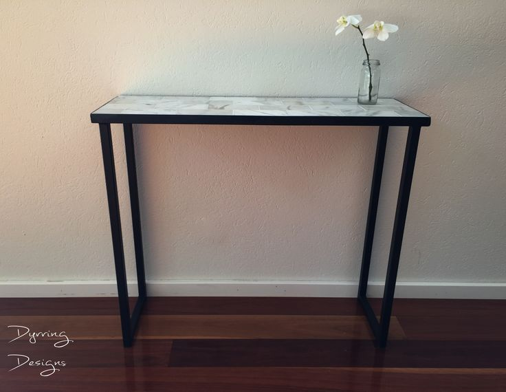 Marble Hall Table - Dyrring Designs  Console Table / Hall Table / Metal / Marble / Tile