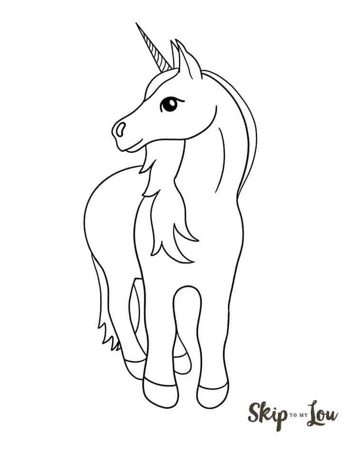How To Draw A Unicorn Unicorn Drawing Drawings Easy Drawings