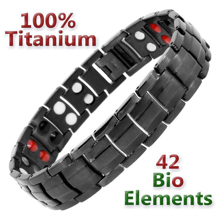 Mens Magnetic Bracelets-Titanium Health Bracelet |Negative Ion Bracelets| Golf Gifts | Gift for Him Magnetic Arthritis Bracelets for Men-BT4 by HolisticMagnets on Etsy