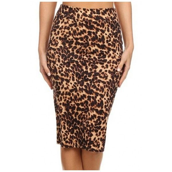 Women's Fashion Leopard Print High Rise Midi Pencil Skirt ($23) ❤ liked on Polyvore featuring skirts, high-waisted skirts, pencil skirt, high waisted pencil skirt, high waist knee length pencil skirt and mid calf pencil skirts