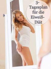 Du willst schnell 2 Kilo abnehmen? Dann haben wir den 3-Tagesplan für die Eiweiß-Diät für dich