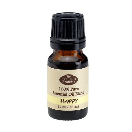 """""""Happy is made with Bergamot, Grapefruit and Ylang Ylang essential oils. Helps with stress and promotes peace, happiness and positive energy. Uses: Aromatherapy, Custom Massage and Body Oils, Vaporizer, Diffusion, Oil Burner, Inhalation, Compress, Perfume, Blends, Spa and Home Care, Cleaning Products."""""""