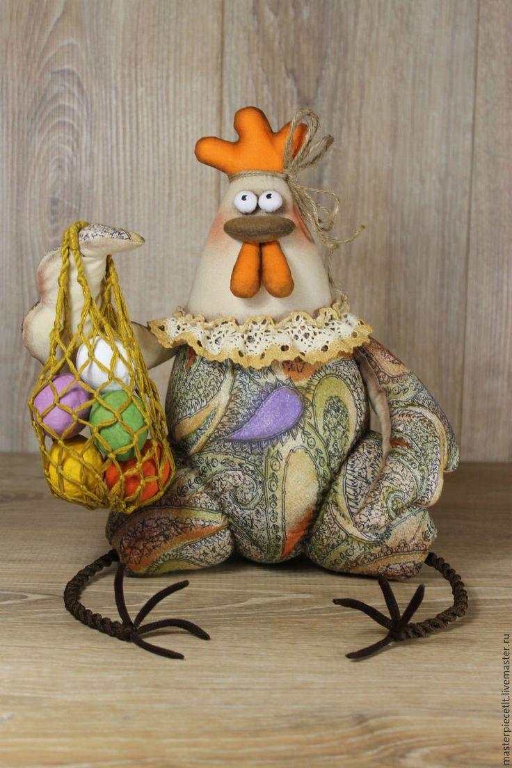 Купить Курочка-несушка - комбинированный, подарок к Пасхе, подарок, для кухни, ручная авторская работа, курочка