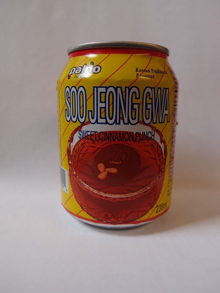Korean Cinnamon drink. makes your tongue a little tingly, super sweetness in a can.