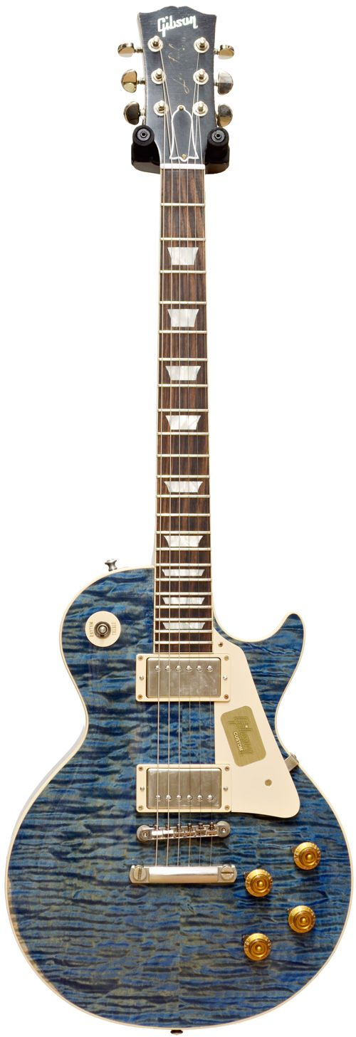 Gibson Handpicked 59 Les Paul Heavy Aged Trans Blue #94020 Main Product Image