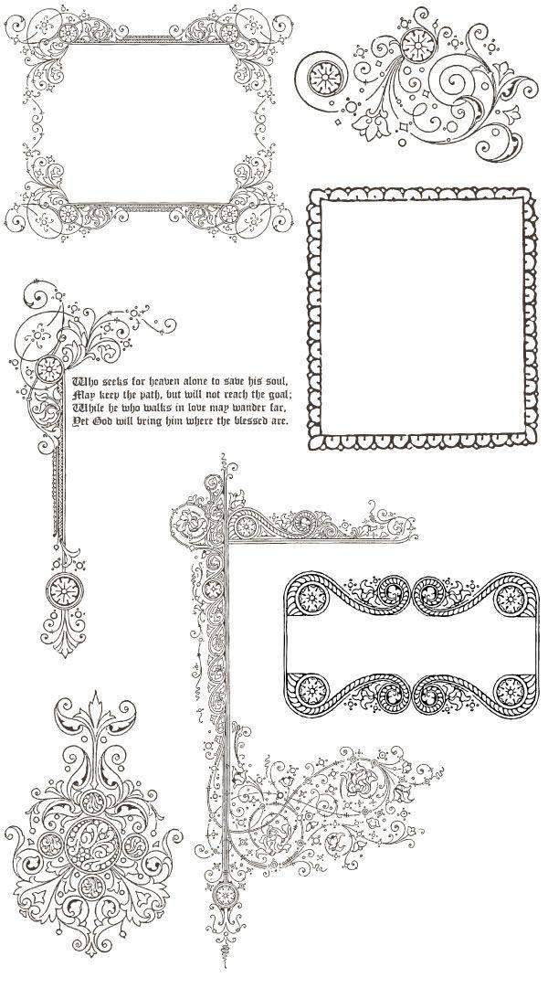 Ornamentos para edição de imagens. Use em convites, tags e muito mais!