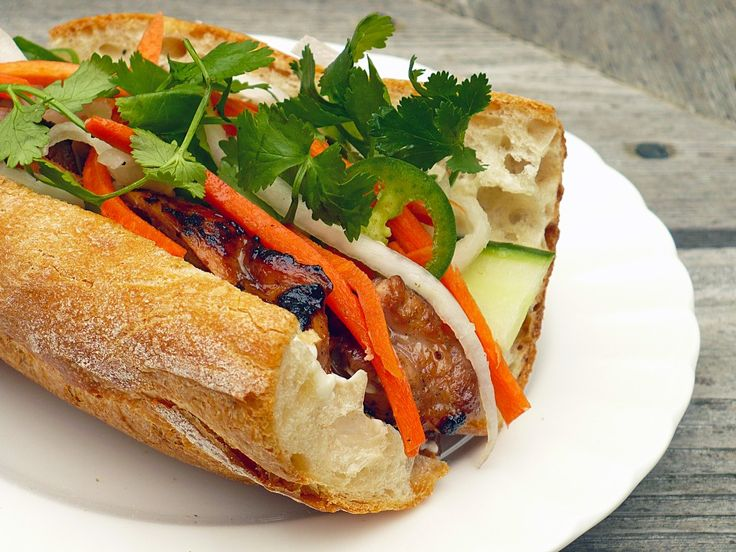 Best.Sandwich.Ever. Bahn Mi. All sorts of meat variations on this sammy, but always a flavor explosion! I've used grilled steak, ham, char sui pork and pate - endless.