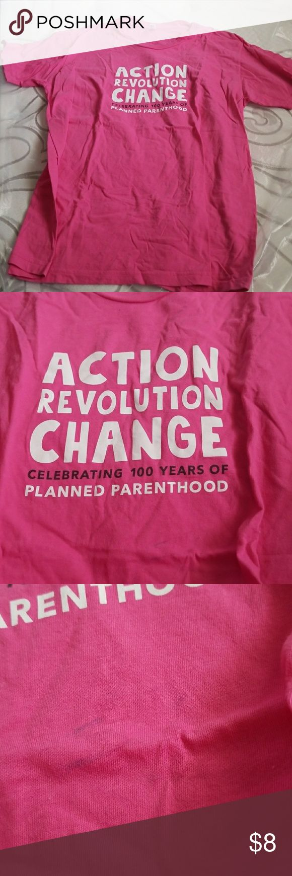 Planned parenthood t-shirt Size large Perfect as a t shirt dress, pajamas, etc or a shirt you can diy American Apparel Tops