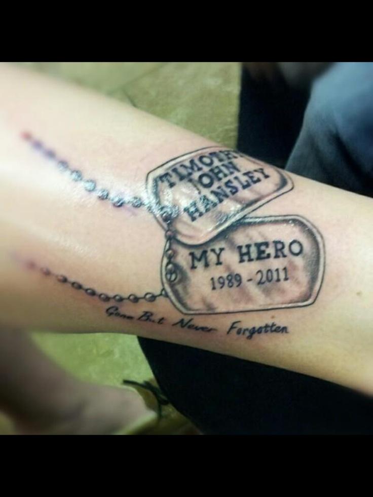 Dog tag tattoo, Finally got it!<3