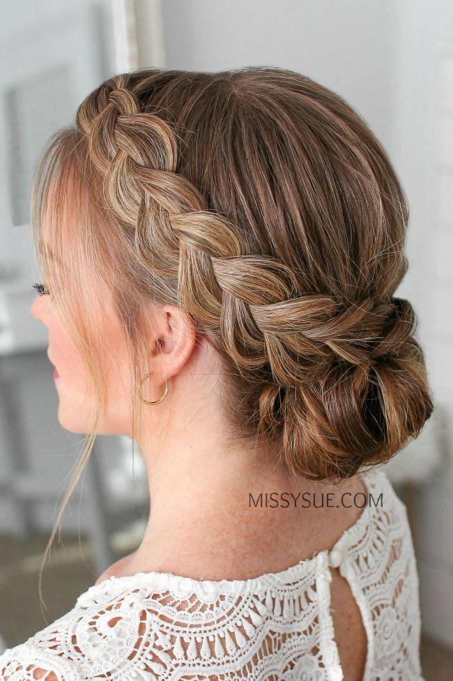 Double Dutch Braids Updo #weddinghairstyles #dutchBraided