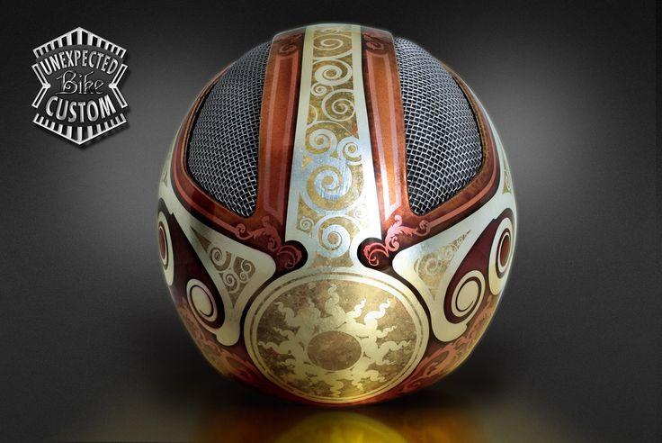 """Custom Helmet """"Jugendstil n°1"""" - Unexpected Custom - Luxury Art for Special Bikes... and bikers"""