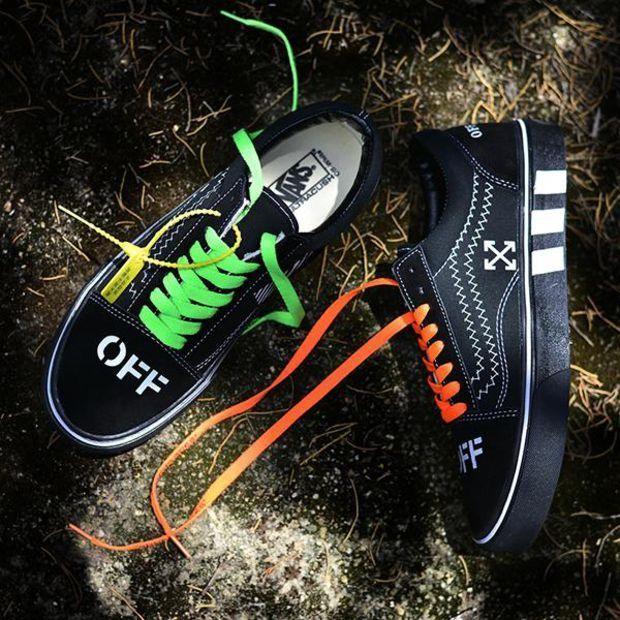 Off White x Bape x Vans en 2020 | Chaussures blanches et