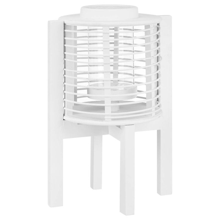 Inject a slightly Asian vibe to any space with the clean lined styling of this candleholder. Designed with a raised open cage set upon sleek legs, the effect is modern and simple. Display it on a side table, mantle, shelf, console or anywhere you crave warm candlelight. Use it indoors or out for all your entertaining. Just pop in a candle and off you glow.