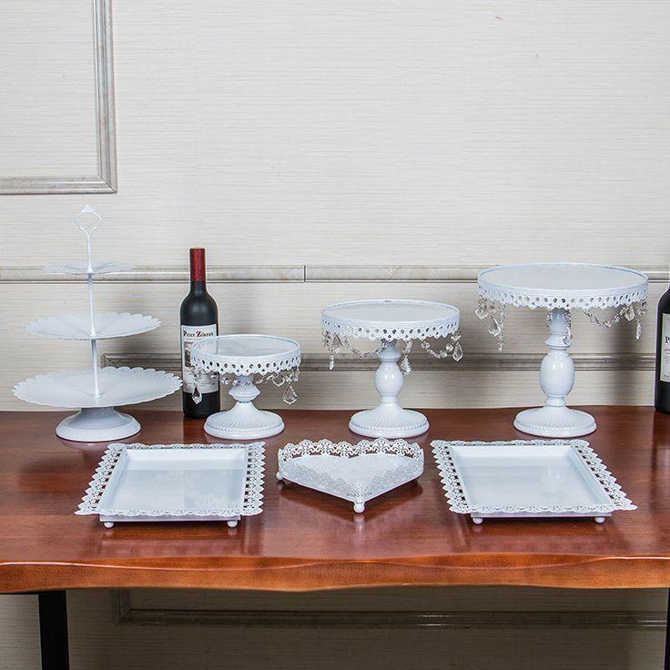6 345,24 - 7 307,97 руб.Золото Железный металл торт подставки набор 7 шт свадьба кекс лоток тарелка день рождения торт украшения инструменты формы для выпечки посуда купить на AliExpress