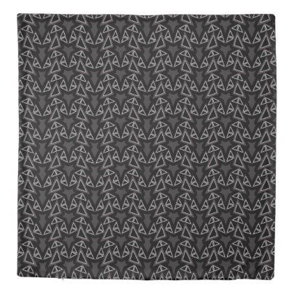 Angles Black Gray Modern Duvet Cover Set  $182.44  by Duvet_Covers_Shop  - cyo customize personalize unique diy