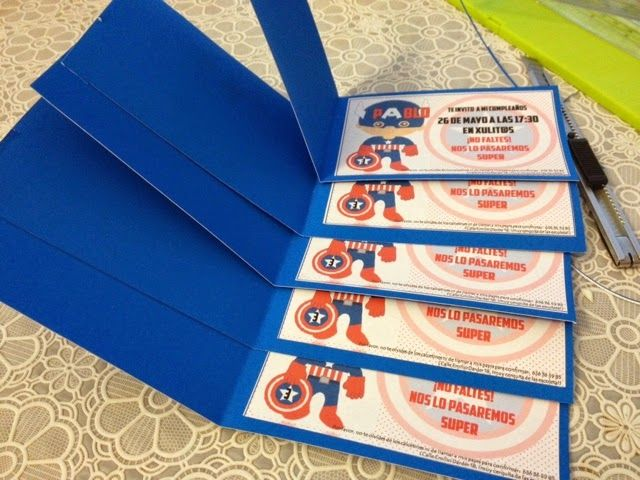 Invitaciones de cumpleaños de Capitan America