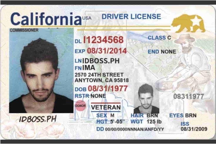 California fake id real id california id photo