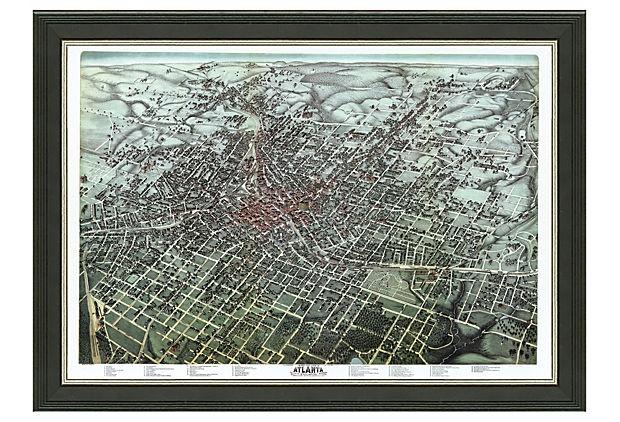 atlanta cityscape map
