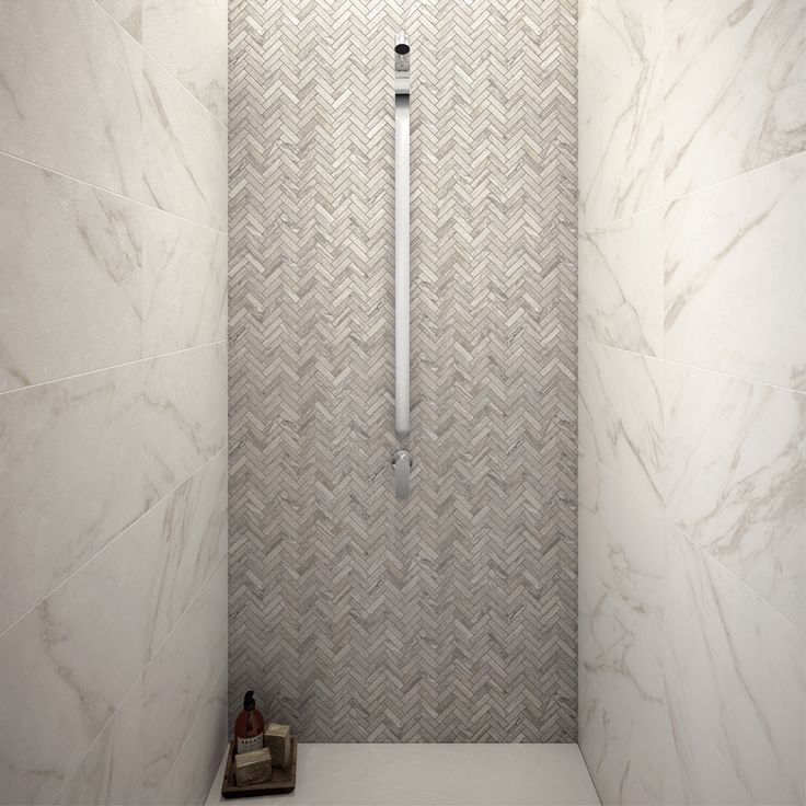 Il mosaico Chevron Arabesque Silver SABLÈ, della collezione Sensi, è la proposta…